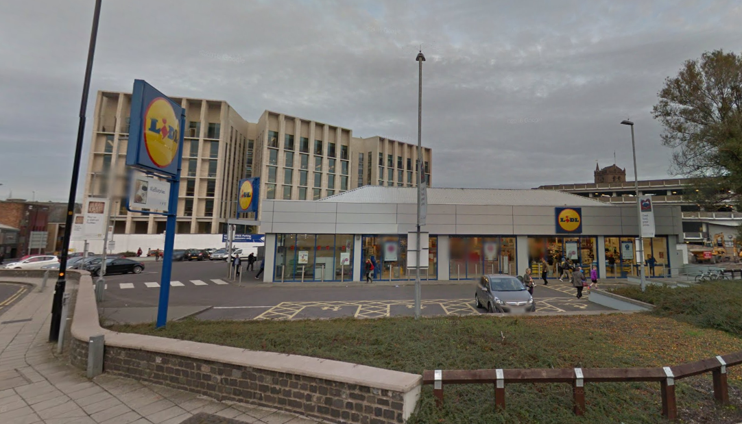 The Lidl on South Ward Road.