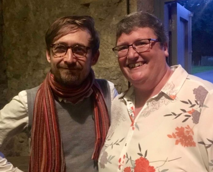 Karen with the Divine Comedy's Neil Hannon.