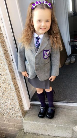 Orla Thomson, 4, Downfield Primary School.