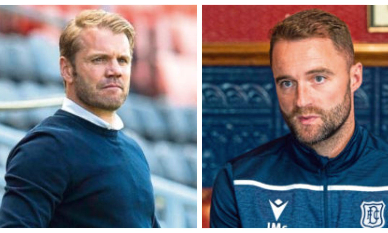 Managers Robbie Neilson and James McPake.