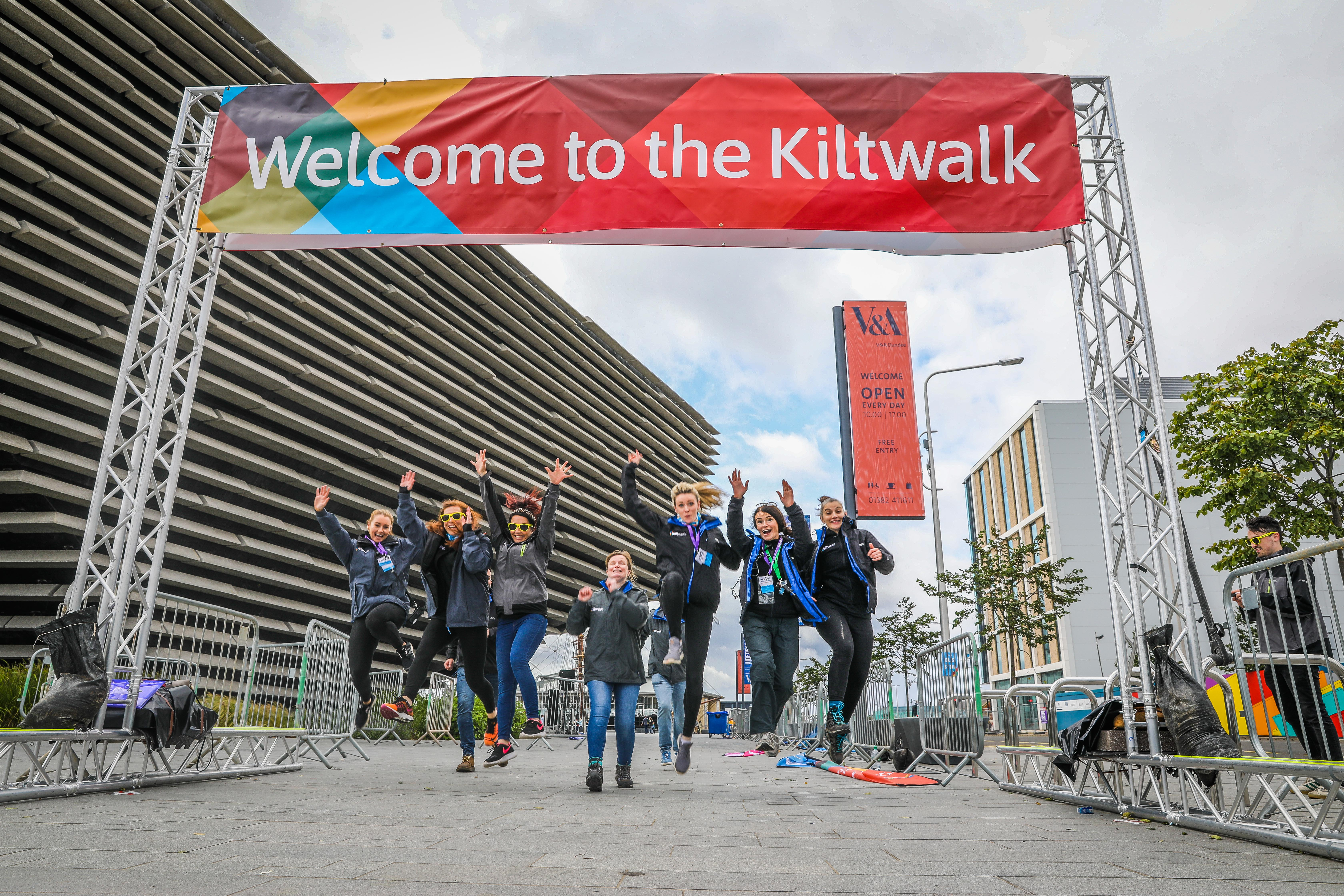 The 2019 Kiltwalk.