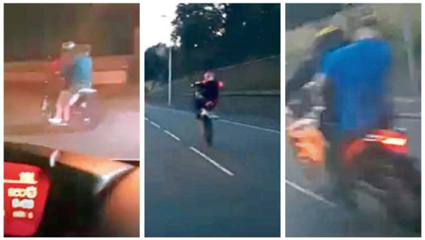 Bikers have been causing problems in different parts of Dundee.