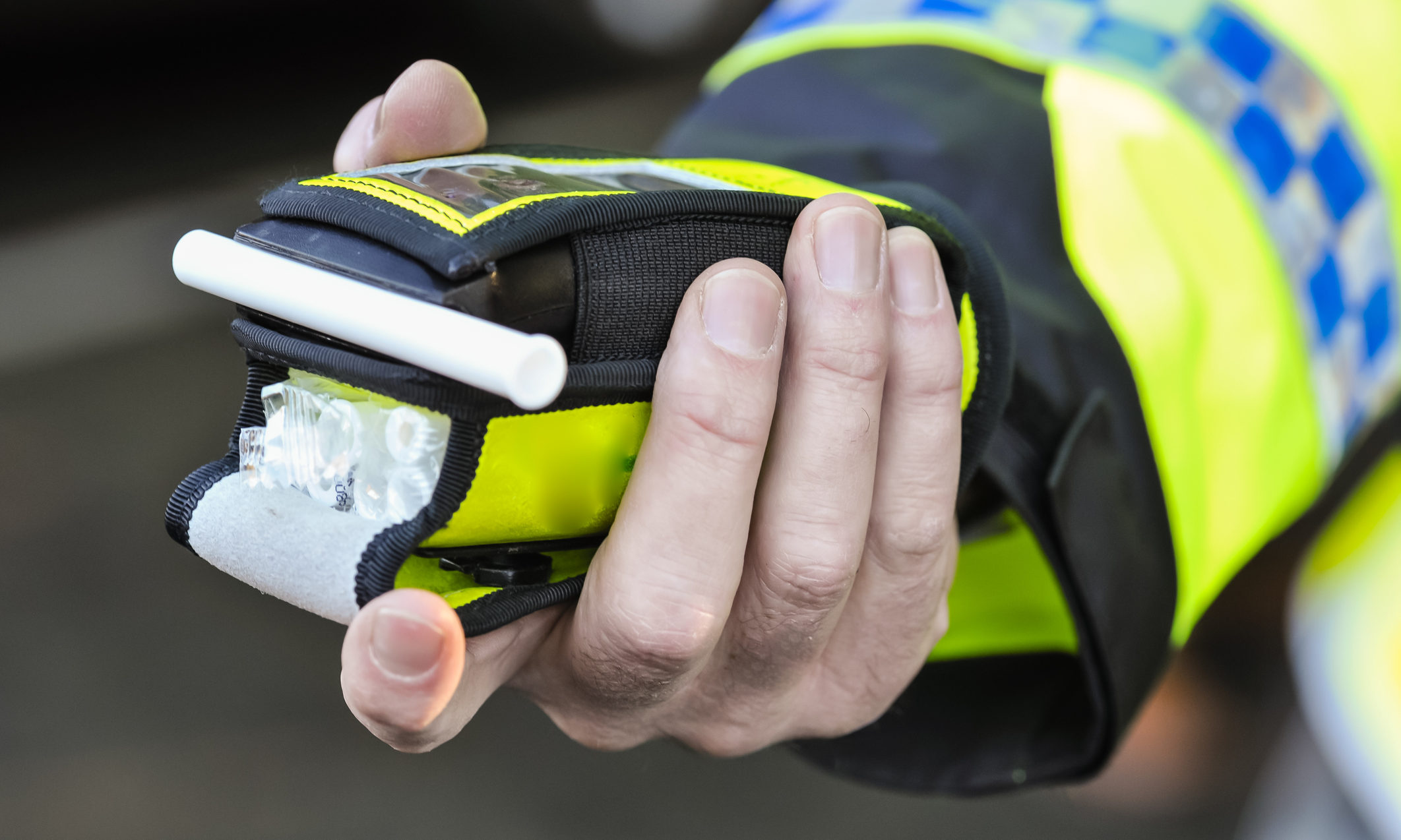 A police breathalyser. (Stock image).