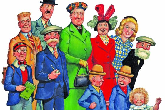 The Auchenshoogle family first appeared in the Sunday Post in 1936 - on the same day as the town's other famous resident, Oor Wullie.