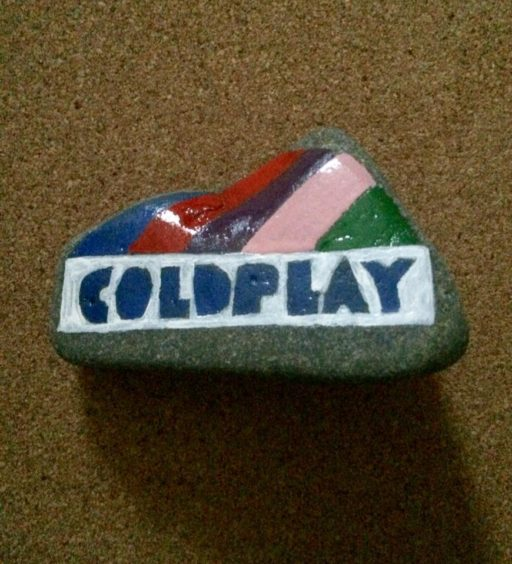 Coldplay's logo made this colourful design.