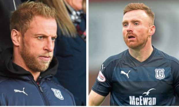 Andrew Davies, left, and Craig Curran, have asked to leave the club.