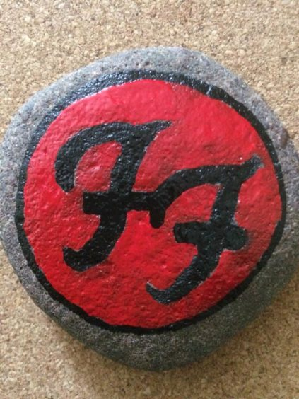 The Foo Fighters logo.