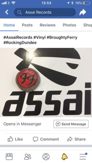 Assai Records shared a post when they found a Foo Fighters rock instore.