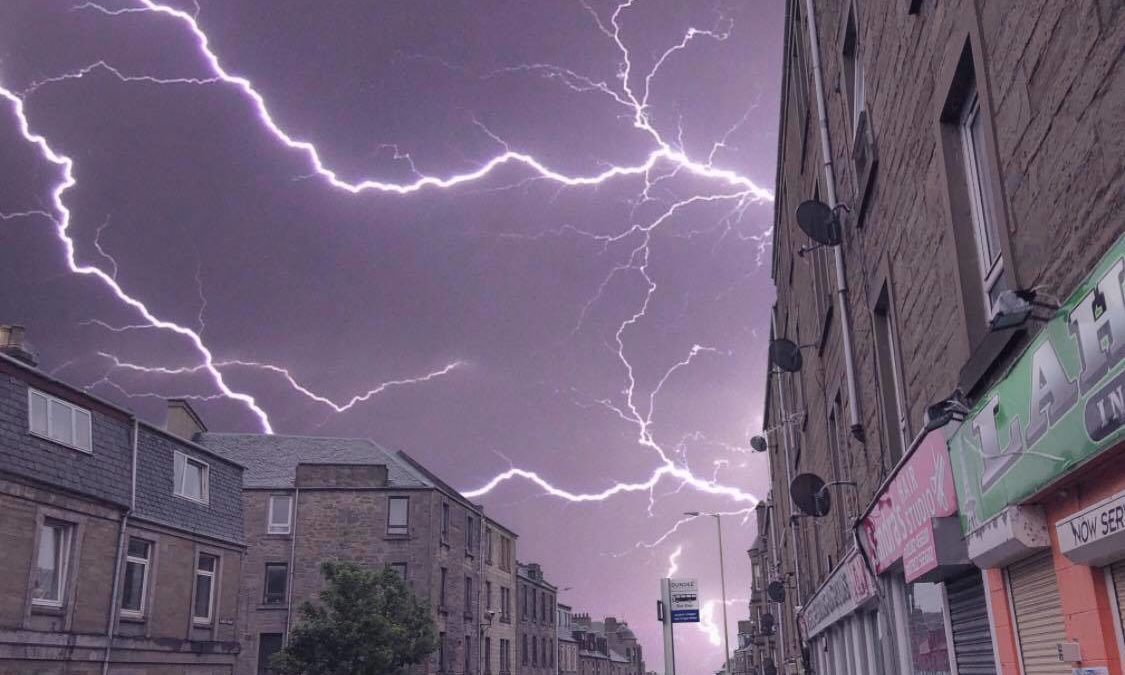 A lightning storm in Dundee last year, taken from Albert Street.