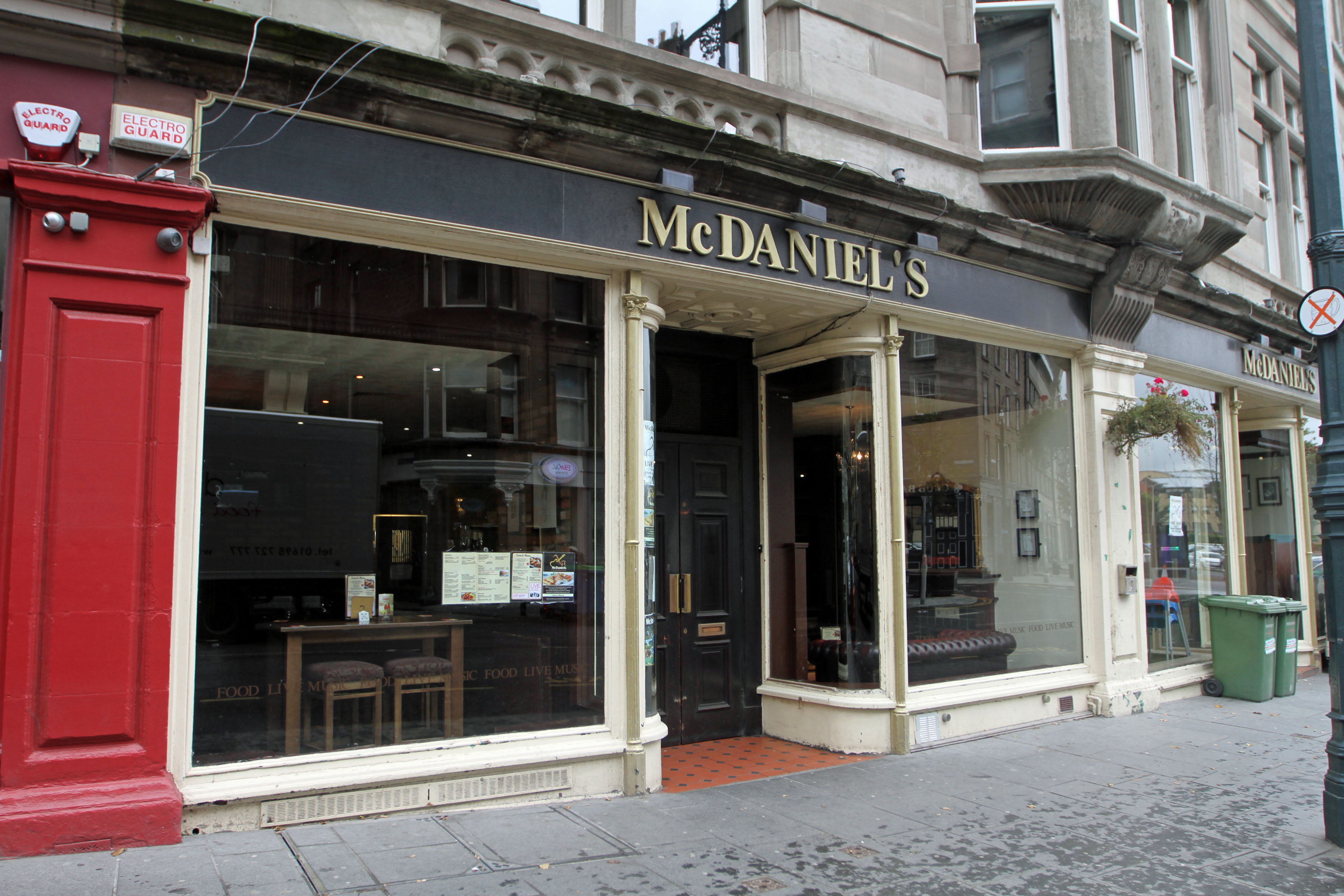 Exterior of McDaniels in Dundee City Centre.