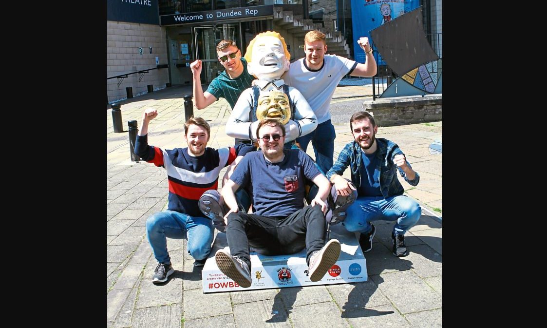 Kane Campbell, front with, from left; Darren Thomson, Aidyn Murphy, Stuart Davidson, and Stewart Coole.