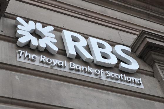 The sign at the Royal Bank of Scotland.