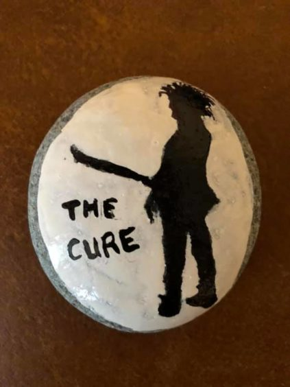 A rock in homage to The Cure, who are playing in Glasgow this weekend.