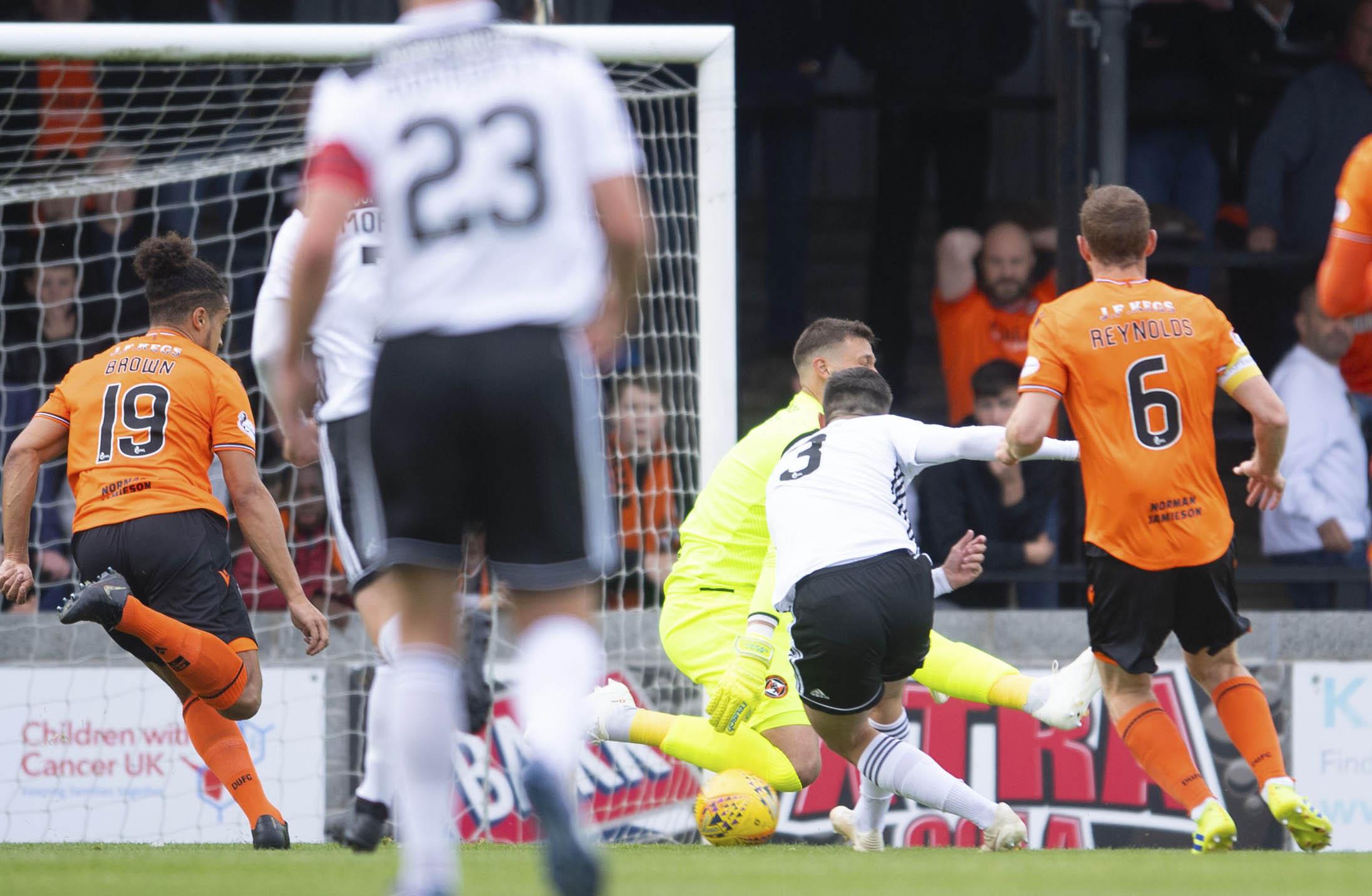Daniel Harvie gave Ayr United the lead early on.