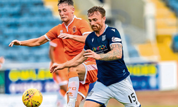 Craig Curran (right) left Dundee on Monday.