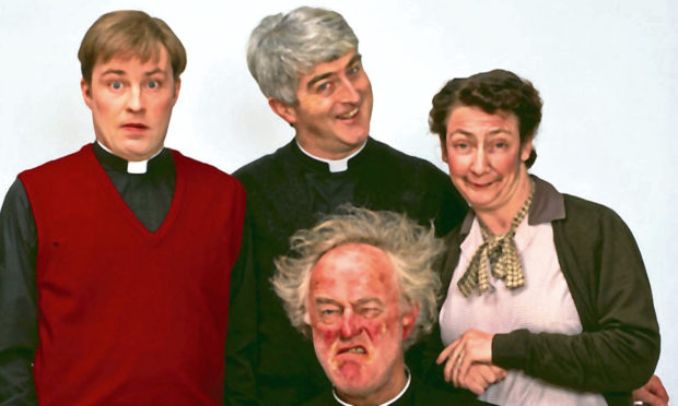 Raymond Norrie was compared to Father Jack Hackett (centre).