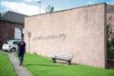 Caption (description) CR0013832- Guide Hall Ogilvy Place, Arbroath Picture shows, Graffiti, 05 September 2019