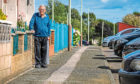 Douglas Grieve is concerned about the condition of the pavements for the elderly residents walking on.