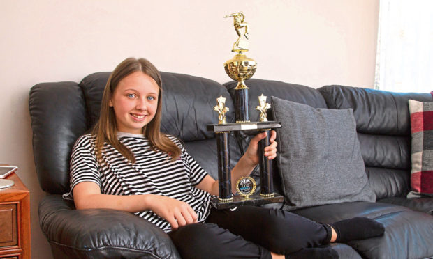 Gemma with her trophy.