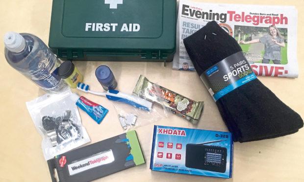 The Tele survival pack contents.
