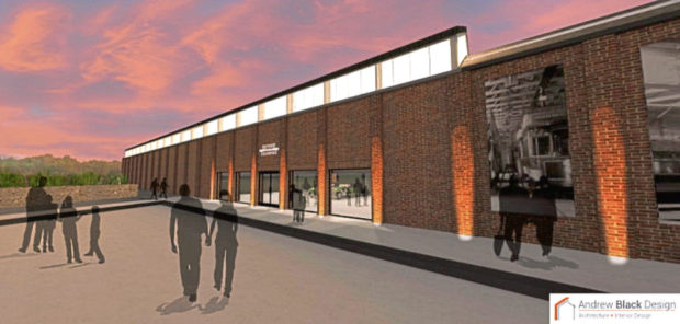 One of the artist's impressions of how the Maryfield Tram Depot will look.