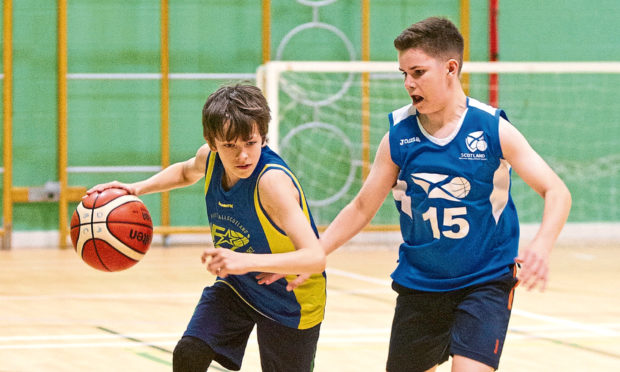 Youngsters at Madsons Basketball Club training.