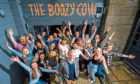Staff at the opening of Dundee's Boozy Cow.