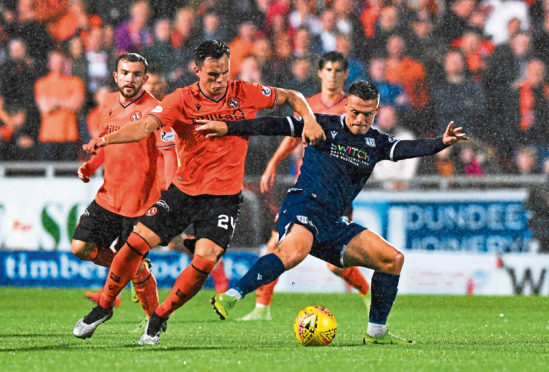 Jordan Marshall during the recent Dundee derby.