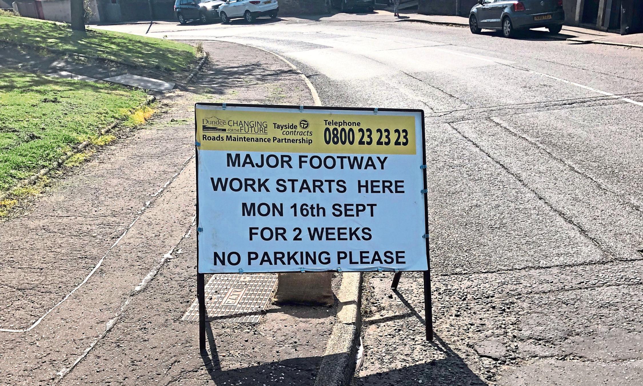 The work on Rankine Street starts today.