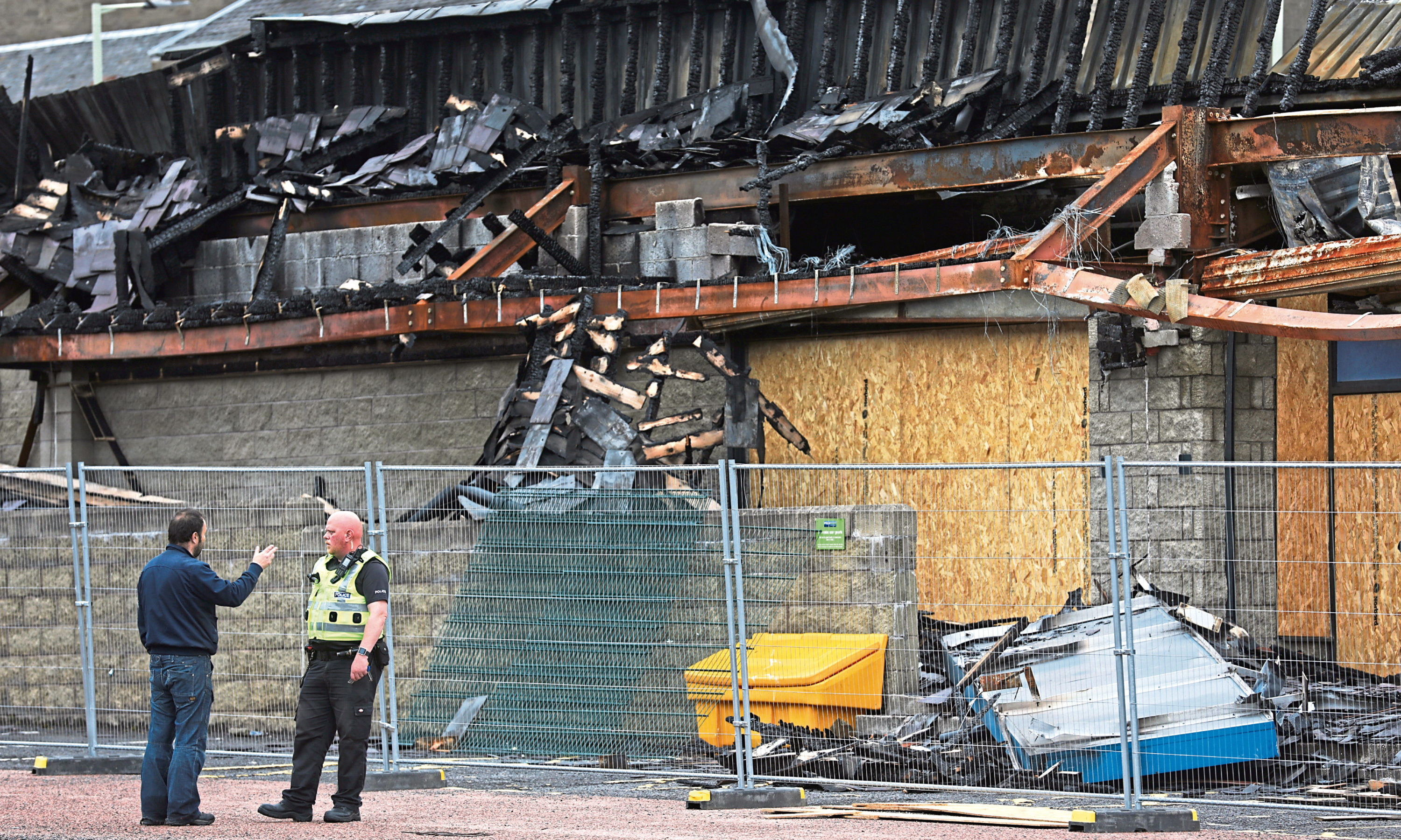 The building was destroyed by a fire in September last year.