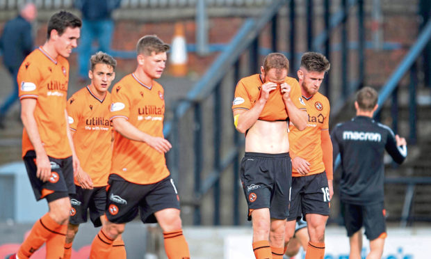 United were disappointed to lose to Ayr.