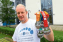 Mark Dorward, who has completed four kiltwalks this year.