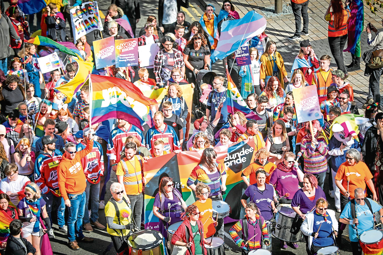 Last year's Pride event.