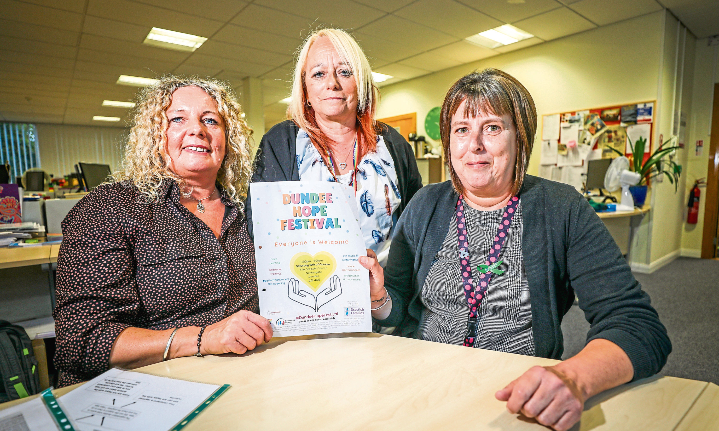 Denise Fitzsimmons, Penny Lorimer, and Linda Donnachie, all of Recovery Dundee.
