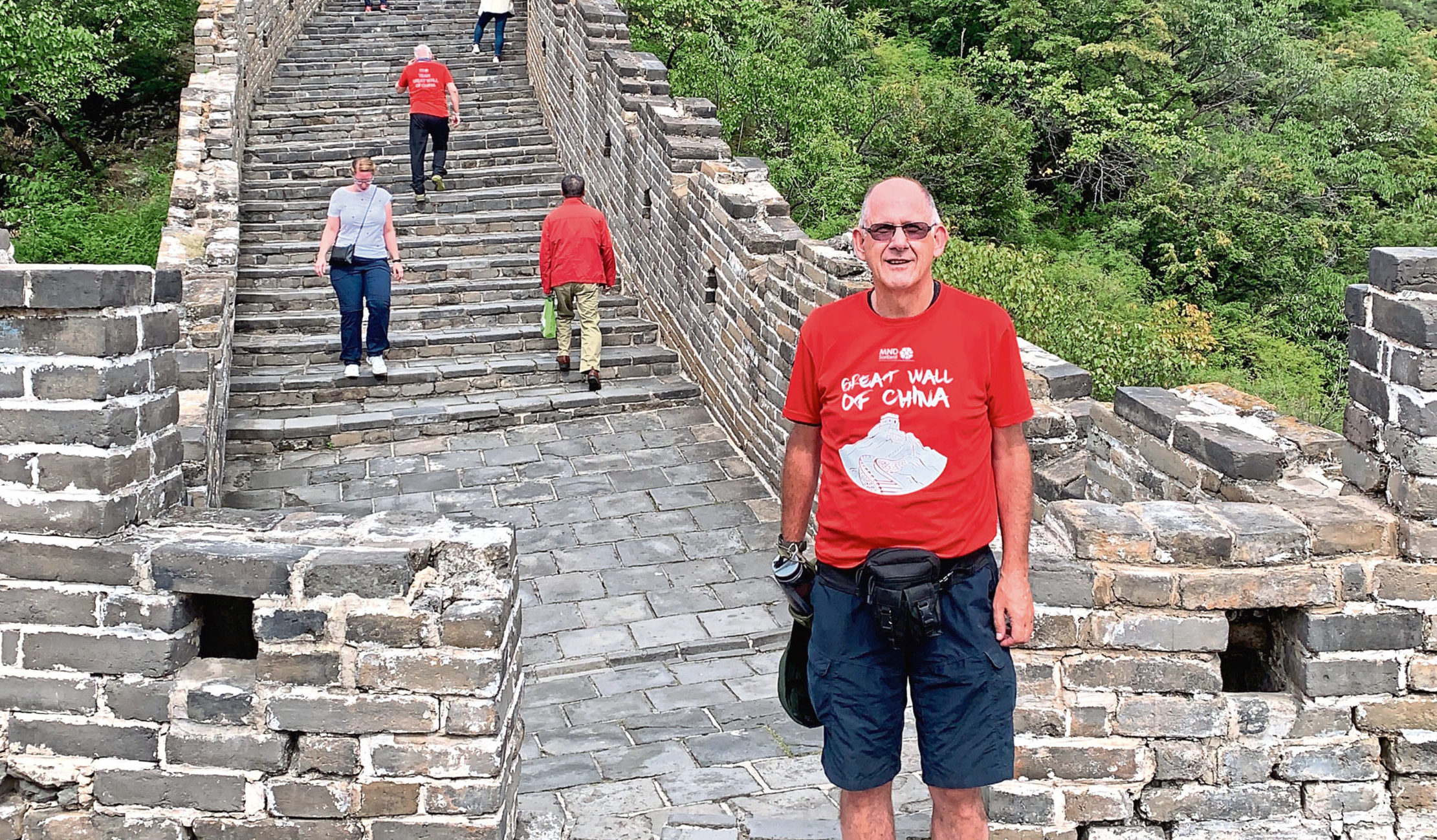 Stanley Ure returned home earlier this week after completing a ten day trek of the Great Wall of China to raise funds for MND Scotland.