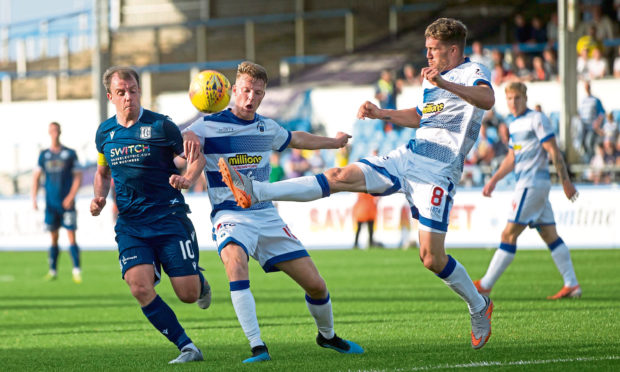 Dundee's Paul McGowan in action against Morton last weekend.