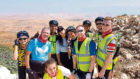 Mark Parsons in Palestine with the group who made the pilgrimage.