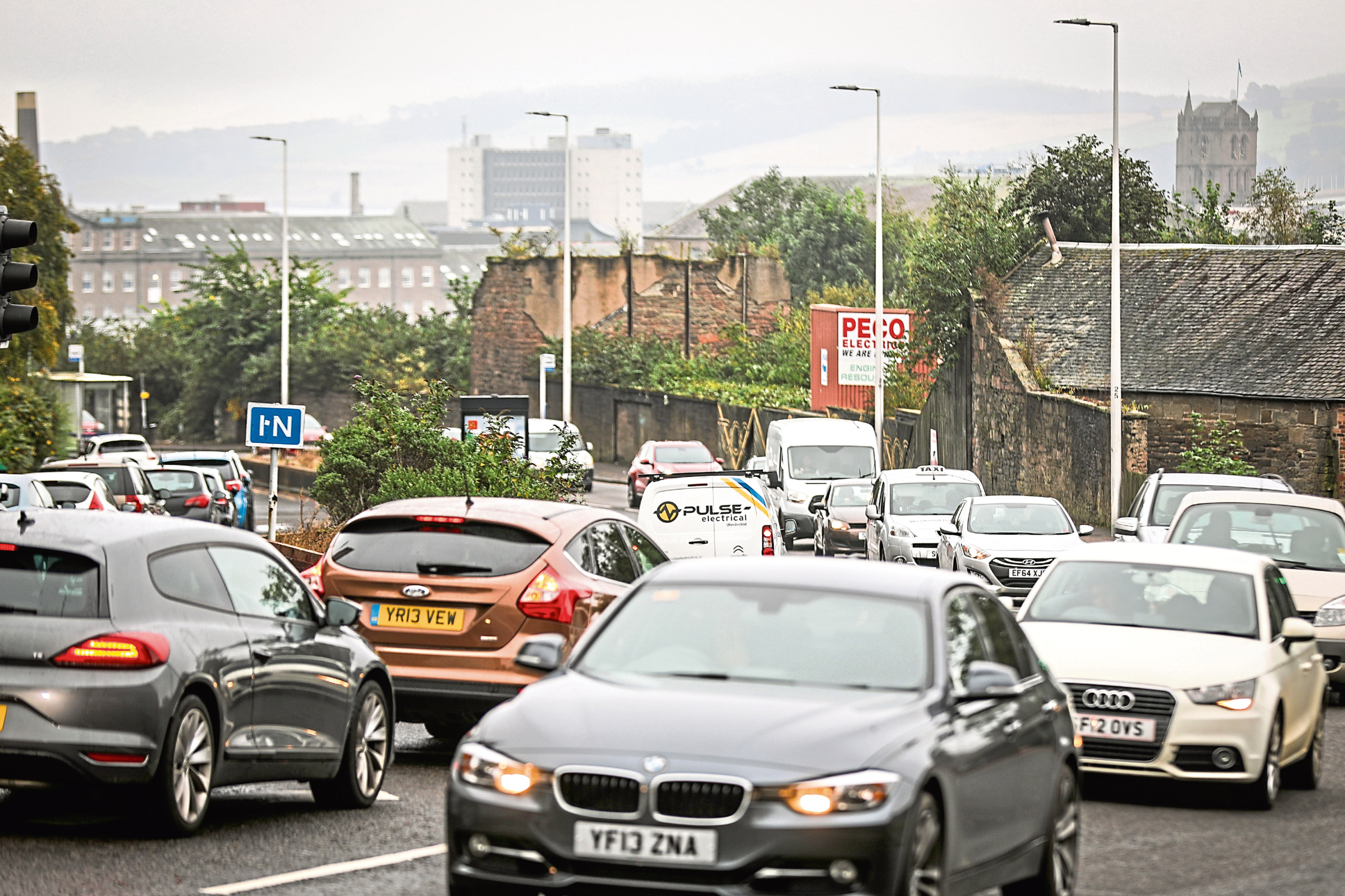 Lochee Road in Dundee is one of the city's busiest streets for traffic.