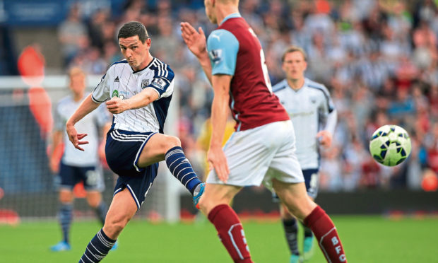 Graham Dorrans  during his time with West Bromwich Albion.