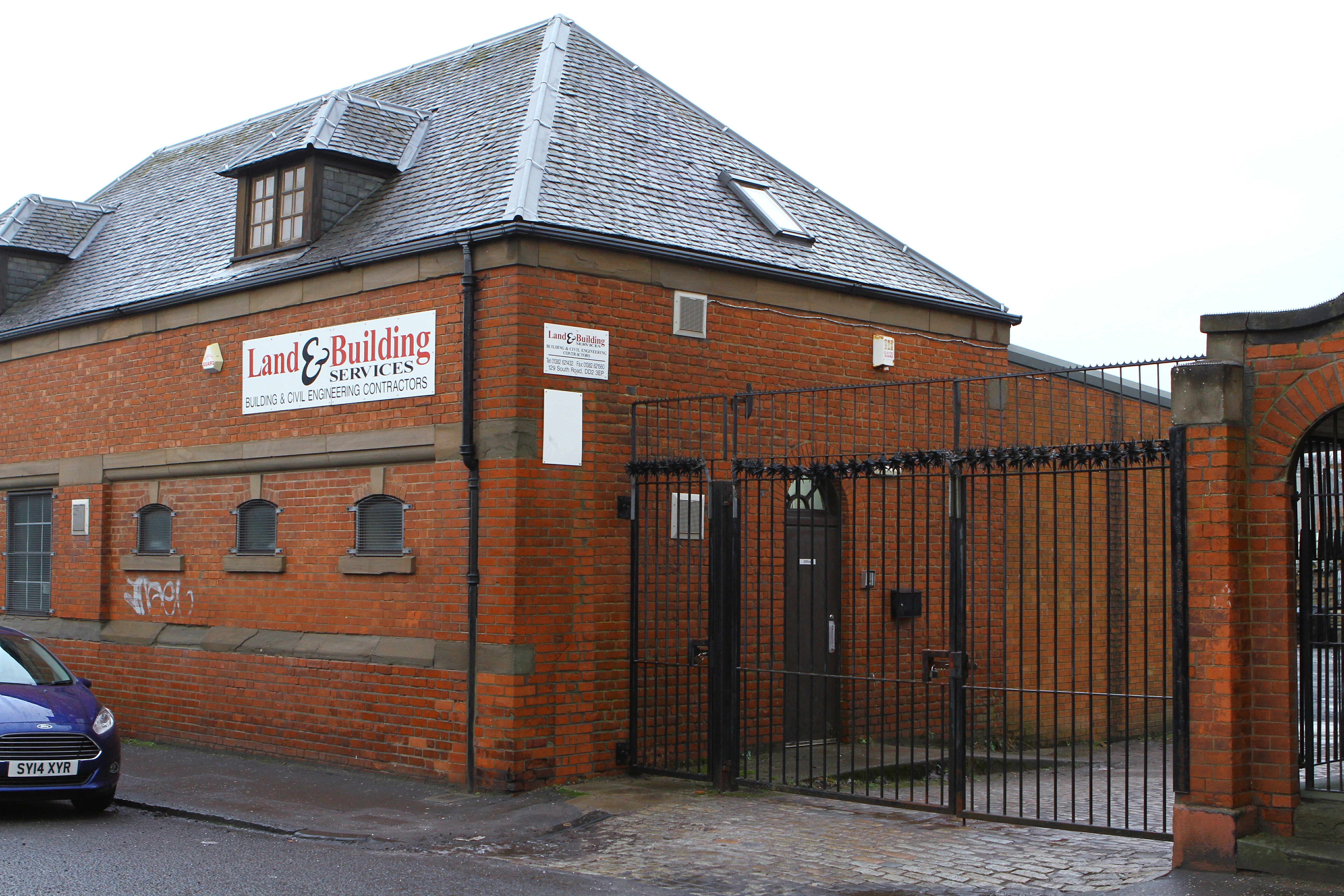 The premises of Land & Building Services on South Road.