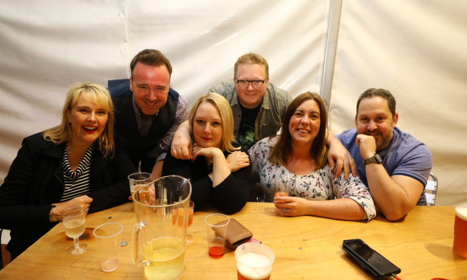From left: Jen Shearer, Craig Shearer, Leah Barney-Hill, Ally Hill, Jane Galloway and Pete Thomas.
