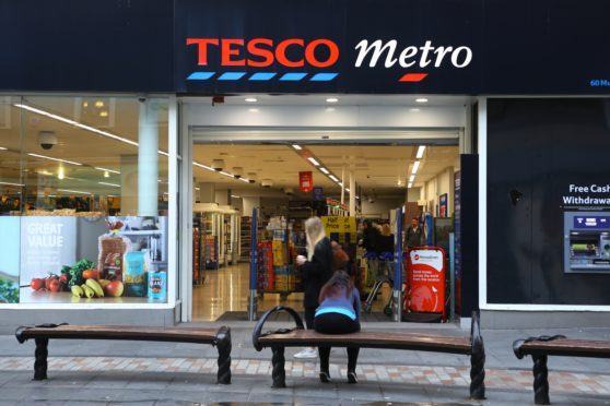 The former Tesco Metro store in the Murraygate.