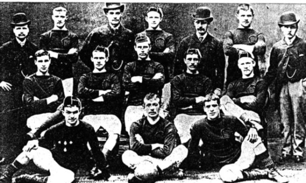 The Arbroath team which recorded the 36-0 victory.
