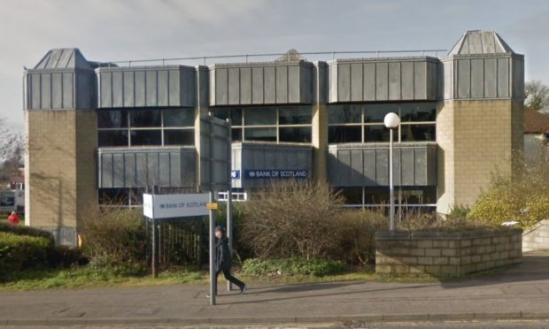 The Bank of Scotland branch in Dunfermline.