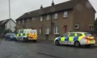 Police were seen arriving at the property around 1.45pm.