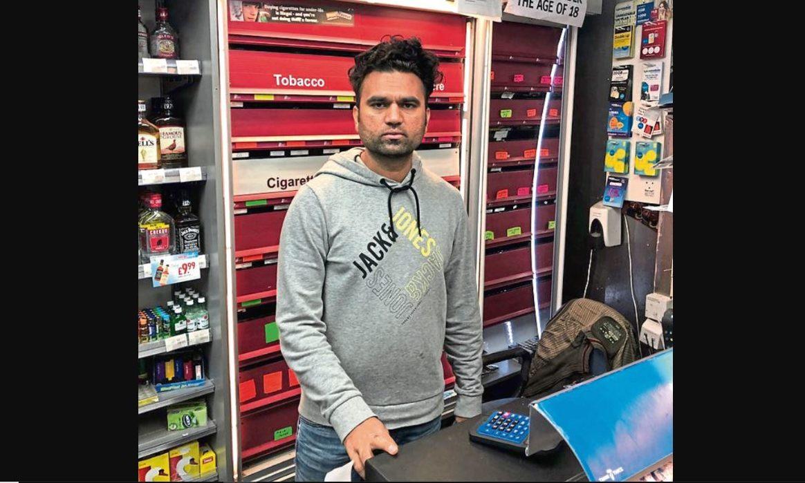 Rao Saim in his shop.