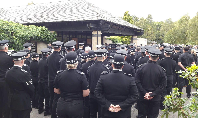 Officers at Friocheim Crematorium.