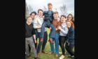 Jim Spence, the new rector of The University of Dundee, with students.