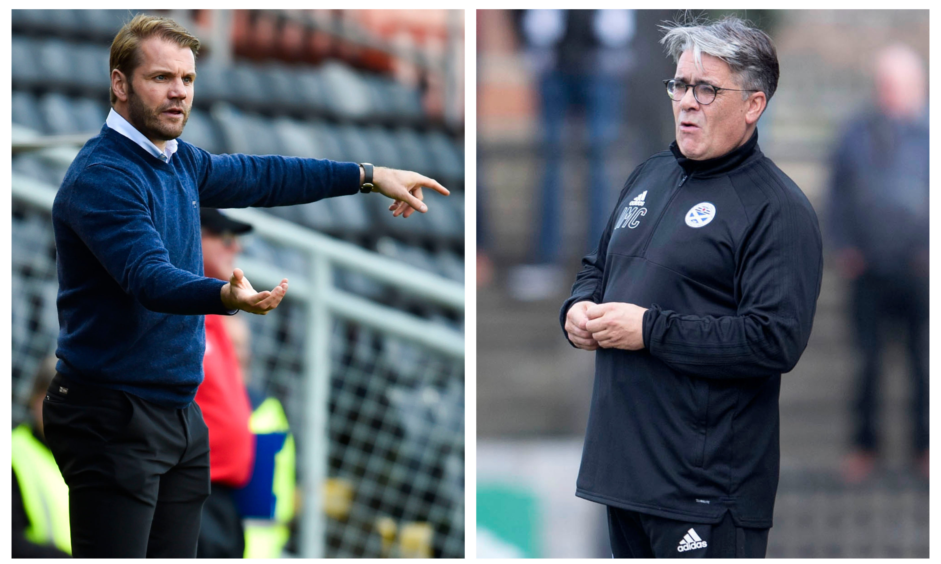 Robbie Neilson and Ian McCall has something of a war of words, however the United manager said he has respect for the Ayr boss.