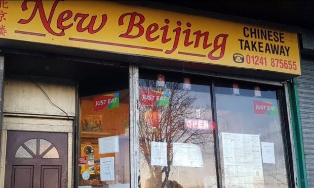 The New Beijing takeaway in Arbroath.